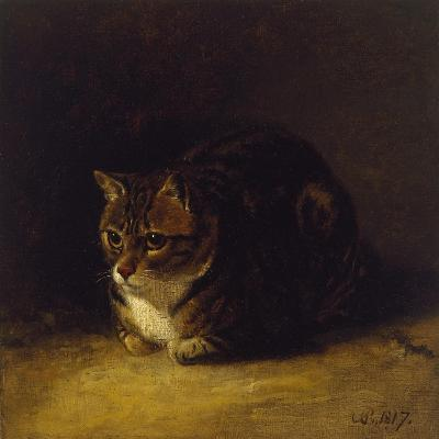 Study of a Cat, 1817-Abraham Cooper-Giclee Print