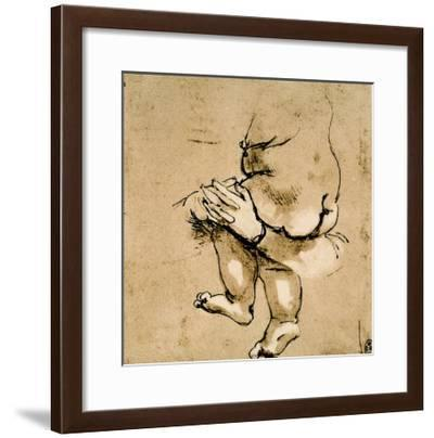 Study of a Child in the Arms of a Woman-Leonardo da Vinci-Framed Giclee Print