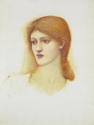 Study of a Female Head for Sibylla Delphica, Mid 1880s-Edward Burne-Jones-Giclee Print