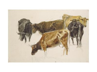 Study of a Group of Cows, C. 1801-J^ M^ W^ Turner-Giclee Print