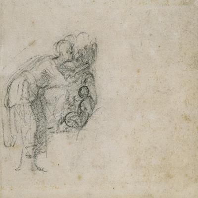 Study of a Group of Figures, C.1511-Michelangelo Buonarroti-Giclee Print