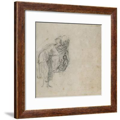Study of a Group of Figures, C.1511-Michelangelo Buonarroti-Framed Giclee Print