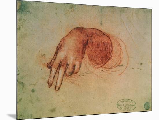 Study of a Hand-Leonardo da Vinci-Mounted Giclee Print