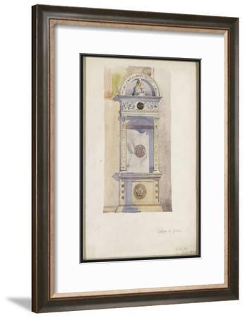 Study of a Jesuit Altar, Certosa Di Pavia, 1891-Charles Rennie Mackintosh-Framed Giclee Print