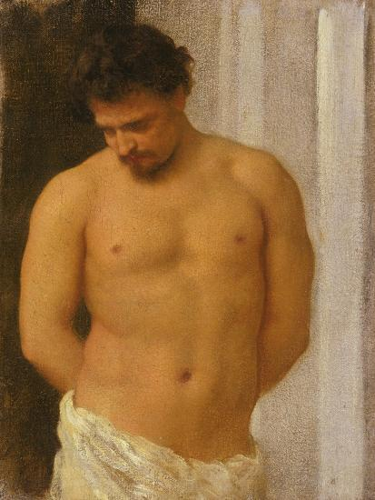 Study of a Male Figure-Frederic Leighton-Giclee Print