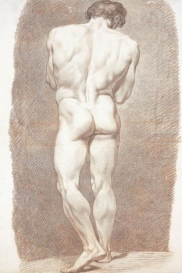 Study of a Male Nude, Seen from Behind, 1774-Joseph Benoit Suvee-Giclee Print