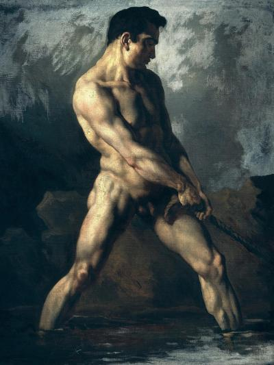 Study of a Male Nude-Th?odore G?ricault-Giclee Print