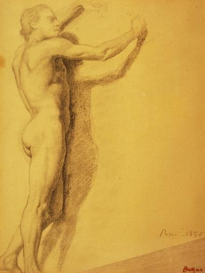 Study of a Male Nude-Edgar Degas-Giclee Print