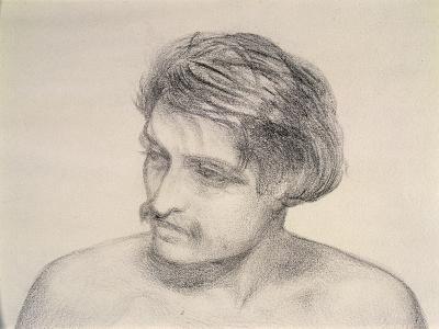 Study of a Man's Head-Robert Braithwaite Martineau-Giclee Print