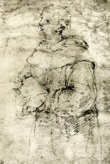 Study of a Monk, 1913-Raphael-Giclee Print