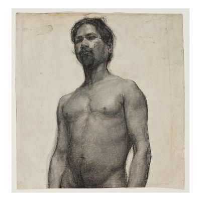 Study of a Negro Man. C.1891 (Charcoal and Pastel on Cream Laid Paper)-Henry Ossawa Tanner-Giclee Print