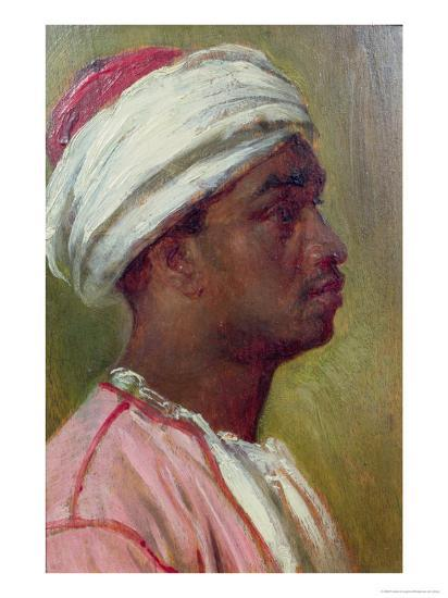 Study of a Nubian Young Man-Frederick Leighton-Giclee Print