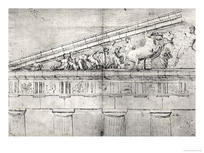 Study of a Pediment from the Parthenon-Jacques Carrey-Giclee Print