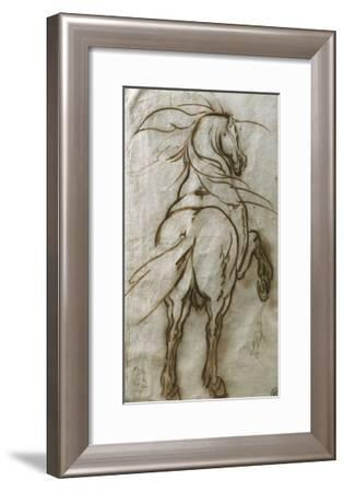 Study of a Rearing Horse, with a Subsidiary Study of the Same and a View of a Town-Jacques Callot-Framed Giclee Print