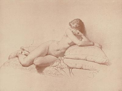 Study of a Reclining Female Nude, 1885-Mihaly von Zichy-Giclee Print