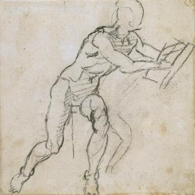 Study of a Seated Male Nude, C.1511-Michelangelo Buonarroti-Giclee Print