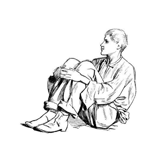 Study of a Seated Man, 1895-Henry Stacy Marks-Giclee Print