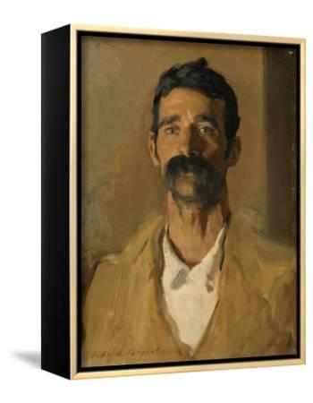 Study of a Sicilian Peasant, 1907-John Singer Sargent-Framed Canvas Print