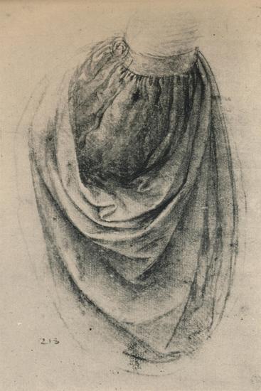 'Study of a Sleeve', c1480 (1945)-Leonardo da Vinci-Giclee Print