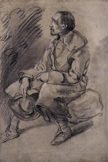 Study of a Woodman, C.1787-Thomas Gainsborough-Giclee Print
