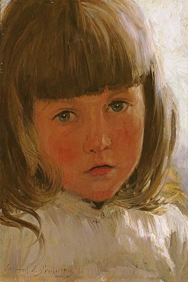 Study of a Young Girl-Edward Killingworth Johnson-Giclee Print