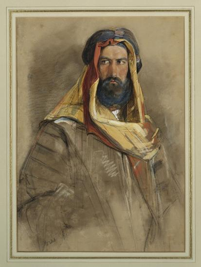 Study of an Arab Sheikh-John Frederick Lewis-Giclee Print