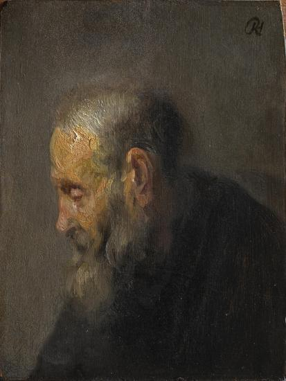 Study of an Old Man in Profile, c. 1630-Rembrandt van Rijn-Giclee Print