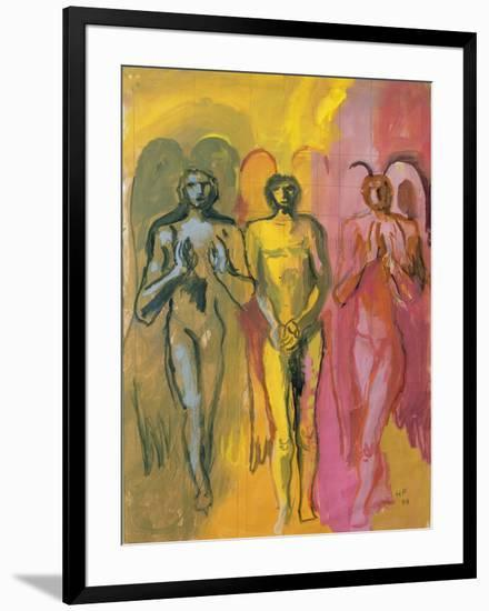 Study of Angels, 1988-Hans Feibusch-Framed Giclee Print