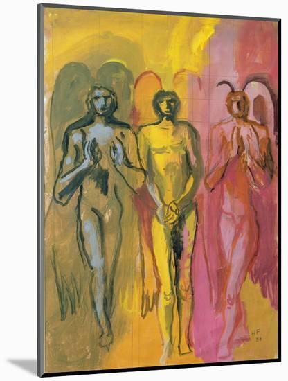 Study of Angels, 1988-Hans Feibusch-Mounted Giclee Print