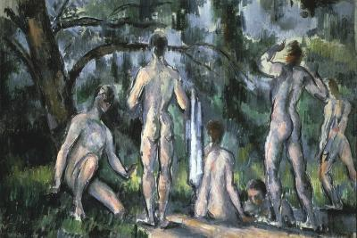 Study of Bathers, 1890-Paul C?zanne-Giclee Print