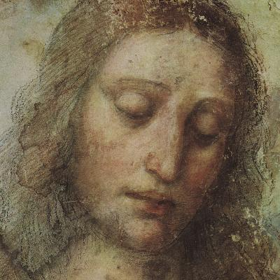 Study of Christ for Last Supper (detail)-Leonardo da Vinci-Art Print