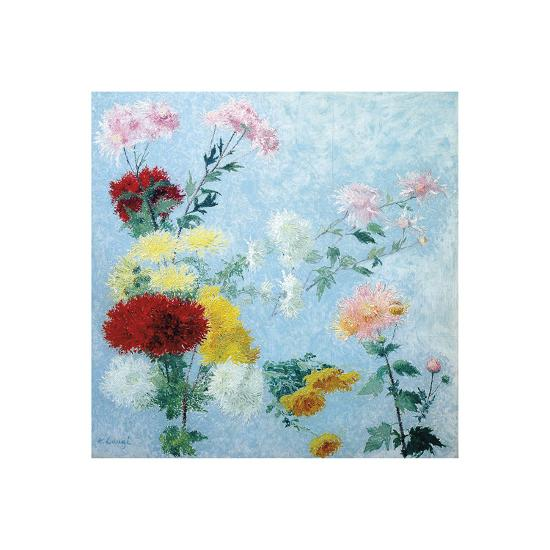 Study of Chrysanthemums-Achille Lauge-Premium Giclee Print