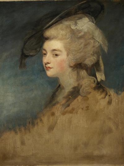 Study of Georgiana Spencer-Sir Joshua Reynolds-Giclee Print