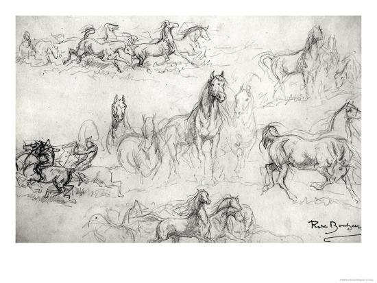 Study of Horses-Rosa Bonheur-Giclee Print