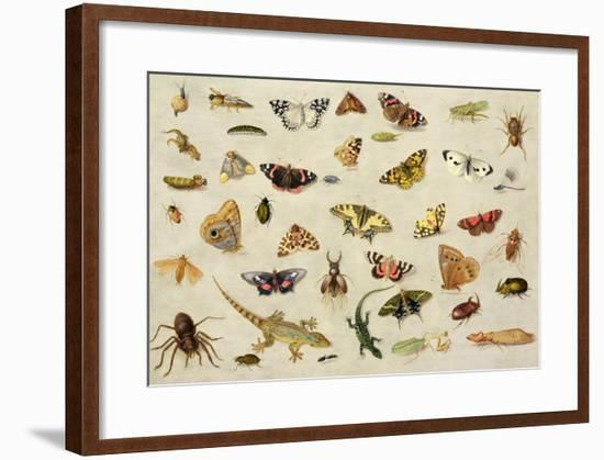 Study of Insects-Jan Van, The Elder Kessel-Framed Giclee Print