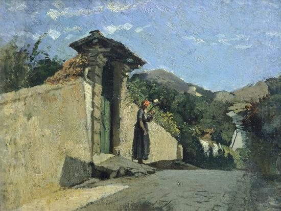 Study of Landscape, About 1860-Cristiano Banti-Giclee Print
