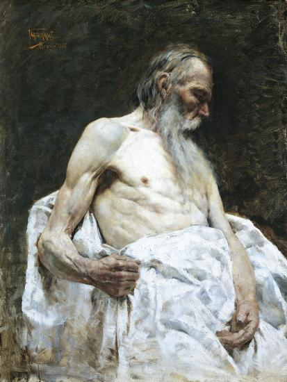 Study of Old Man, 1885-J Lovopacky-Giclee Print