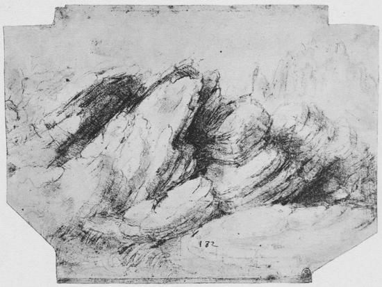 'Study of Rock Formations', c1480 (1945)-Leonardo da Vinci-Giclee Print