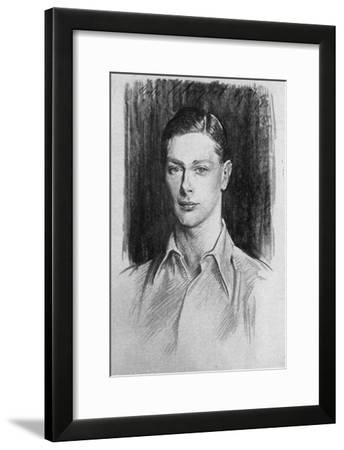 Study of the Duke of York, 1923-John Singer Sargent-Framed Giclee Print