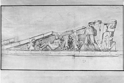 Study of the Frieze from a Pediment of the Parthenon-Jacques Carrey-Giclee Print