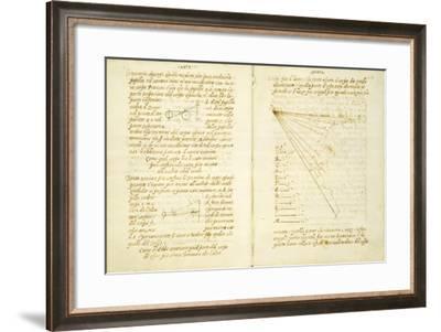 Study of the Light on Male Face, Code Vatican Urbinate Lat. 1270-Leonardo da Vinci -Framed Art Print