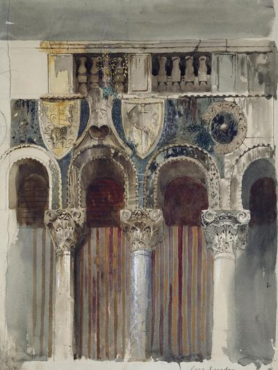 Study of the Marble Inlaying on the Front of the Casa Loredan, Venice, September - October 1845-John Ruskin-Giclee Print
