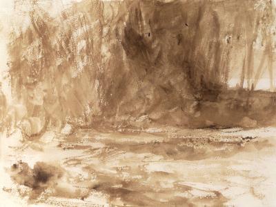 Study of the River Washburn, Yorkshire, c.1815-J^ M^ W^ Turner-Giclee Print