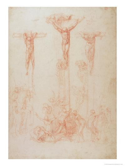 Study of Three Crosses-Michelangelo Buonarroti-Giclee Print