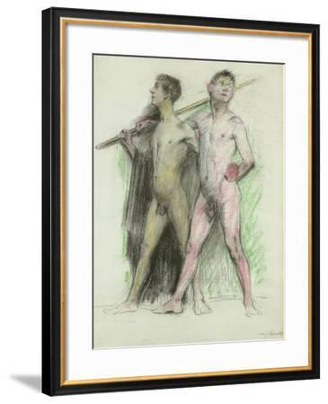 Study of Two Male Figures-Lovis Corinth-Framed Giclee Print
