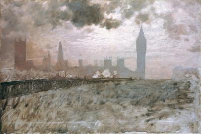 Study of Westminster Bridge (Studio Per Westminster Bridge)-Giuseppe De Nittis-Giclee Print