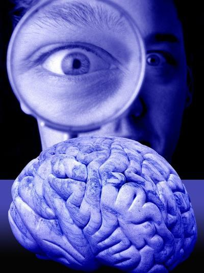 Studying the Brain, Conceptual Image-Victor De Schwanberg-Photographic Print