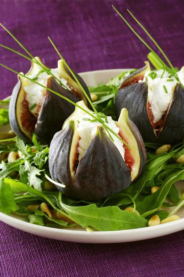 Stuffed Figs on Rocket Salad-Anthony Lanneretonne-Photographic Print