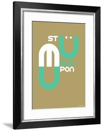 Stumble Upon Poster-NaxArt-Framed Art Print