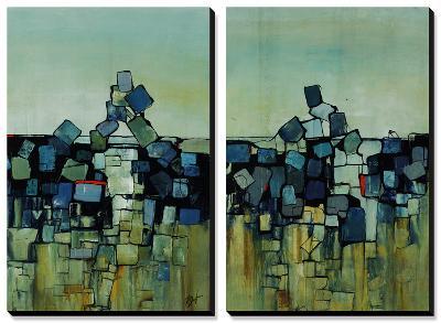 Stumbling Blocks-Farrell Douglass-Canvas Art Set